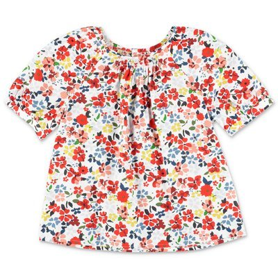 Bonpoint floral print cotton poplin blouse