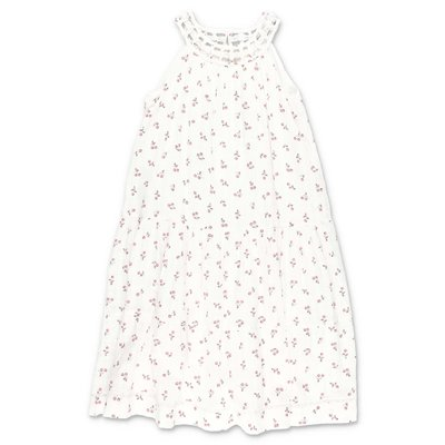 Bonpoint white cotton muslin dress with Iconic cherries