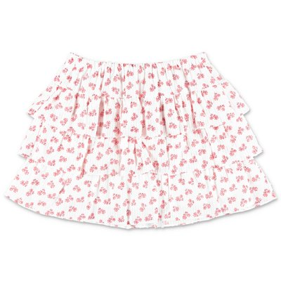 Bonpoint white printed cotton muslin skirt