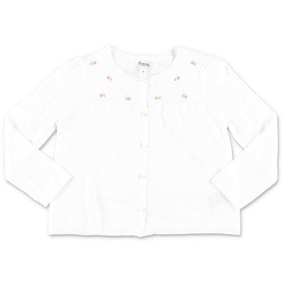 Bonpoint white cotton cardigan