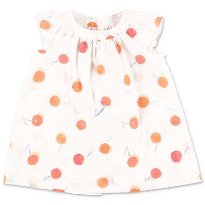 Bonpoint white polka dot cotton dress
