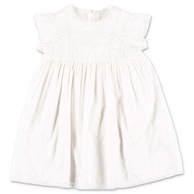 Bonpoint abito bianco in cotone