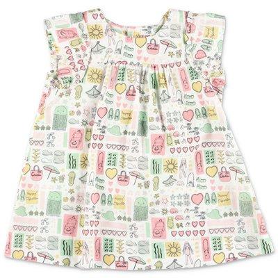 Bonpoint multicolor cotton muslin dress