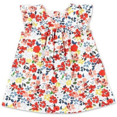 Bonpoint abito stampa floreale in popeline di cotone