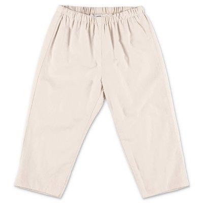Bonpoint pantaloni beige in popeline di cotone