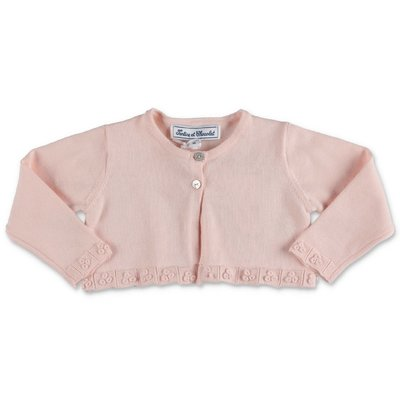 Tartine & Chocolat pink knit cotton cardigan