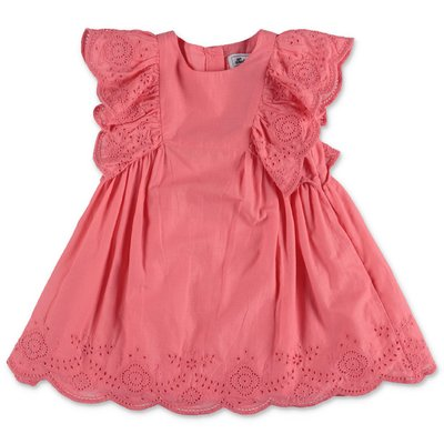 Tartine & Chocolat pink cotton muslin dress