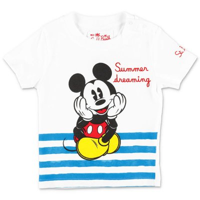 MC2 SAINT BARTH white cotton jersey Disney t-shirt