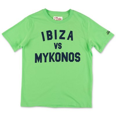 MC2 SAINT BARTH fluo green cotton jersey t-shirt