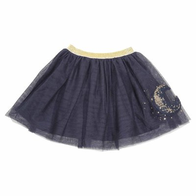 Stretch tulle skirt with decoration