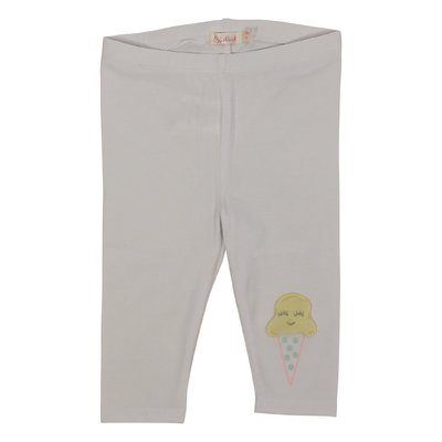 White stretch cotton leggings