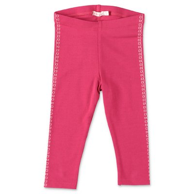 BillieBlush fuchsia stretch cotton blend leggings