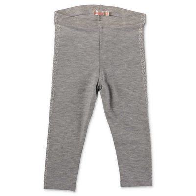 BillieBlush marled grey stretch cotton blend leggings