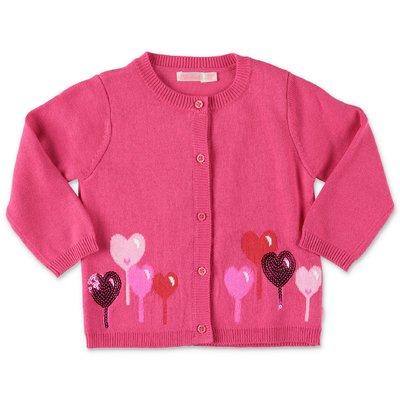 BillieBlush fuchsia knit cardigan
