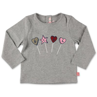 BillieBlush melange grey cotton jersey t-shirt