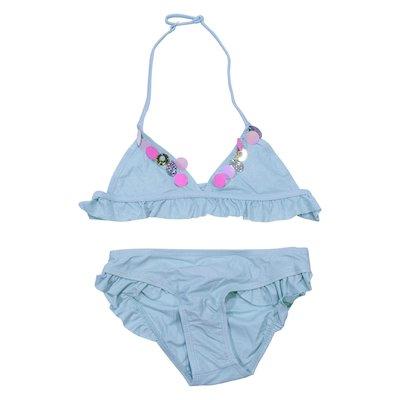 Turquoise lycra bikini swimwear