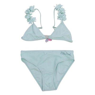 Aquamarine nylon bikini