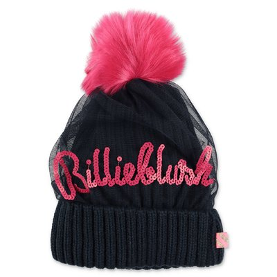 BillieBlush navy blue knit hat