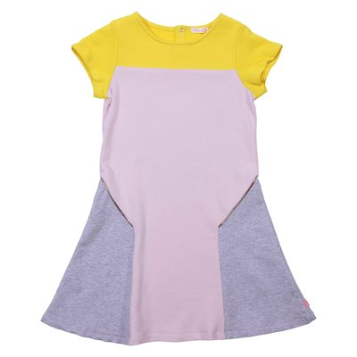 Color block cotton dress