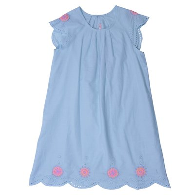 Turquoise muslin cotton dress