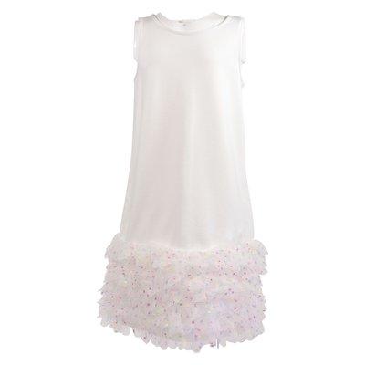 White viscose blend dress