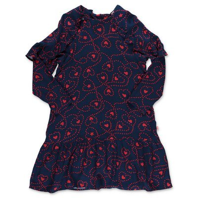 BillieBlush navy blue viscose printed dress