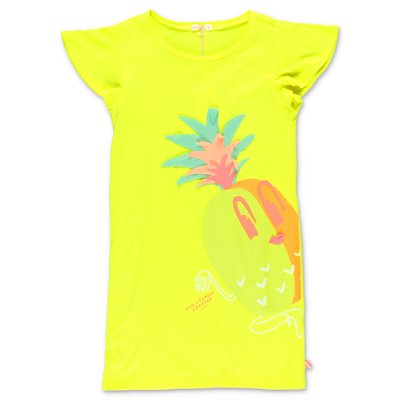 BillieBlush fluorescent yellow cotton jersey dress