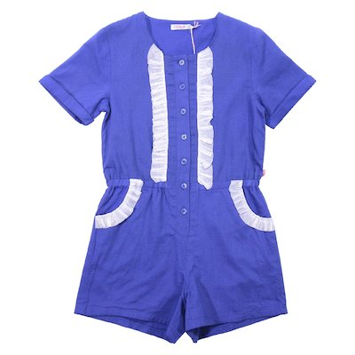 Blue cotton romper