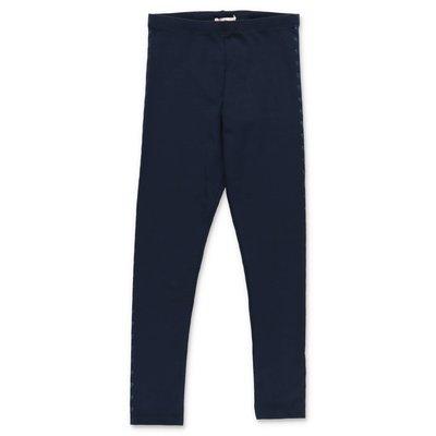BillieBlush blue stretch cotton blend leggings