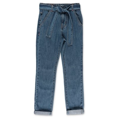 BillieBlush jeans blu in denim di cotone stretch