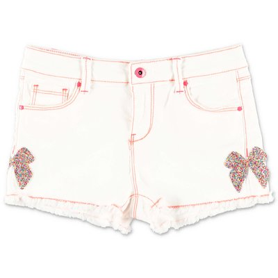 BillieBlush shorts bianchi in denim di cotone stretch