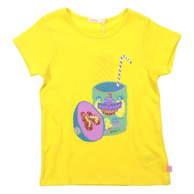 Yellow cotton jersey t-shirt
