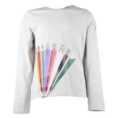 Melange grey cotton jersey t-shirt