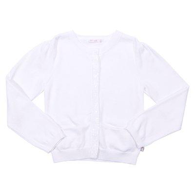 Cardigan bianco in cotone