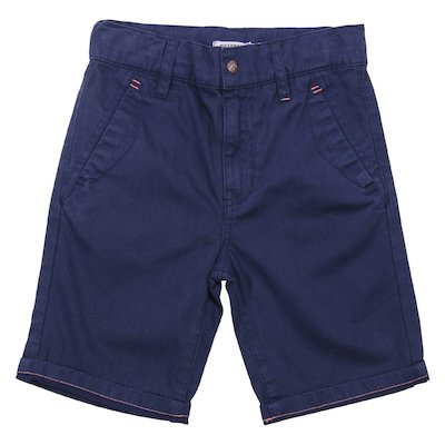 Blue cotton gabardine shorts
