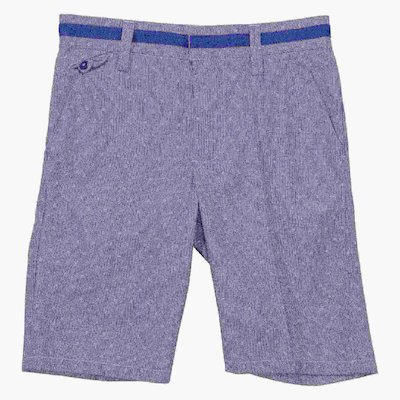 Light blue cotton gabardine shorts