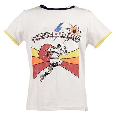 White vintage print cotton jersey t-shirt