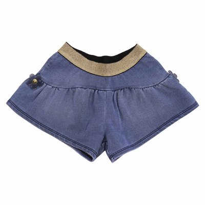 Little Marc Jacobs blue stretch cotton denim shorts