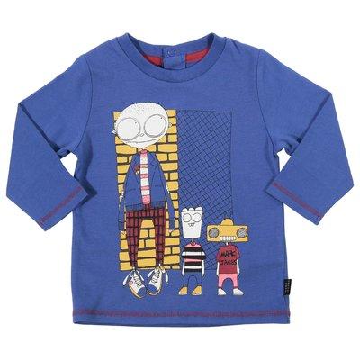 작은 마크 제이콥스 프린트 코튼 저지 티셔츠