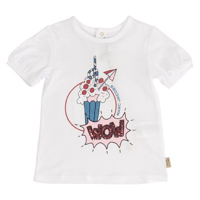 White Ice-cream cotton jersey t-shirt