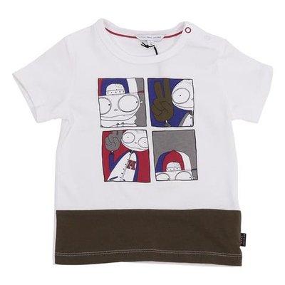 White iconic print cotton jersey t-shirt