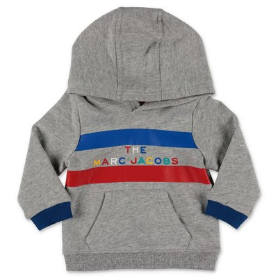 Little Marc Jacobs marled grey cotton sweatshirt hoodie