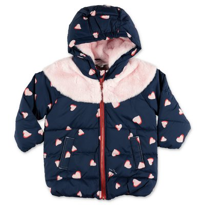 Little Marc Jacobs navy blue nylon down jacket with hood
