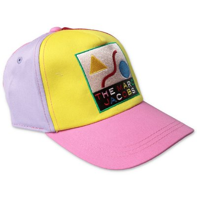 Little Marc Jacobs multicolor cotton canvas baaseball cap