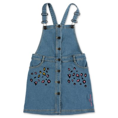 Little Marc Jacobs stretch cotton denim overalls