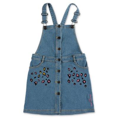 Little Marc Jacobs stretch cotton denim overalls
