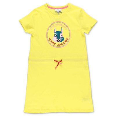 Little Marc Jacobs yellow cotton jersey dress