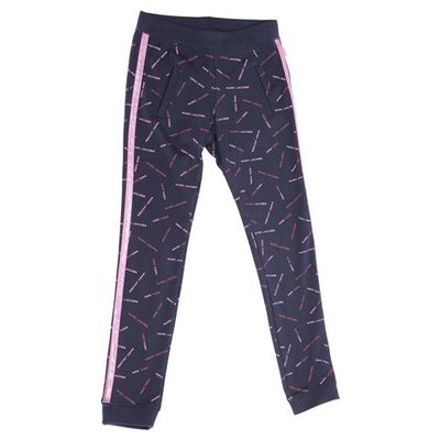 Pantaloni blu navy in cotone con logo