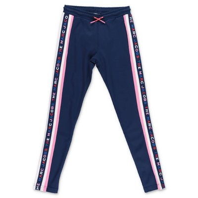 Little Marc Jacobs pantaloni blu navy in techno tessuto