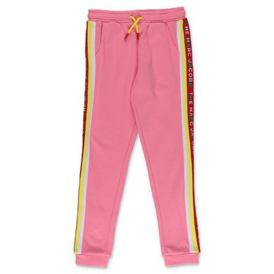 Little Marc Jacobs pantaloni rosa in felpa di cotone